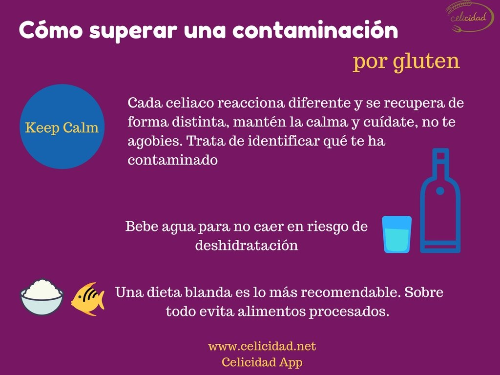 recuperarse tras una contaminación por gluten