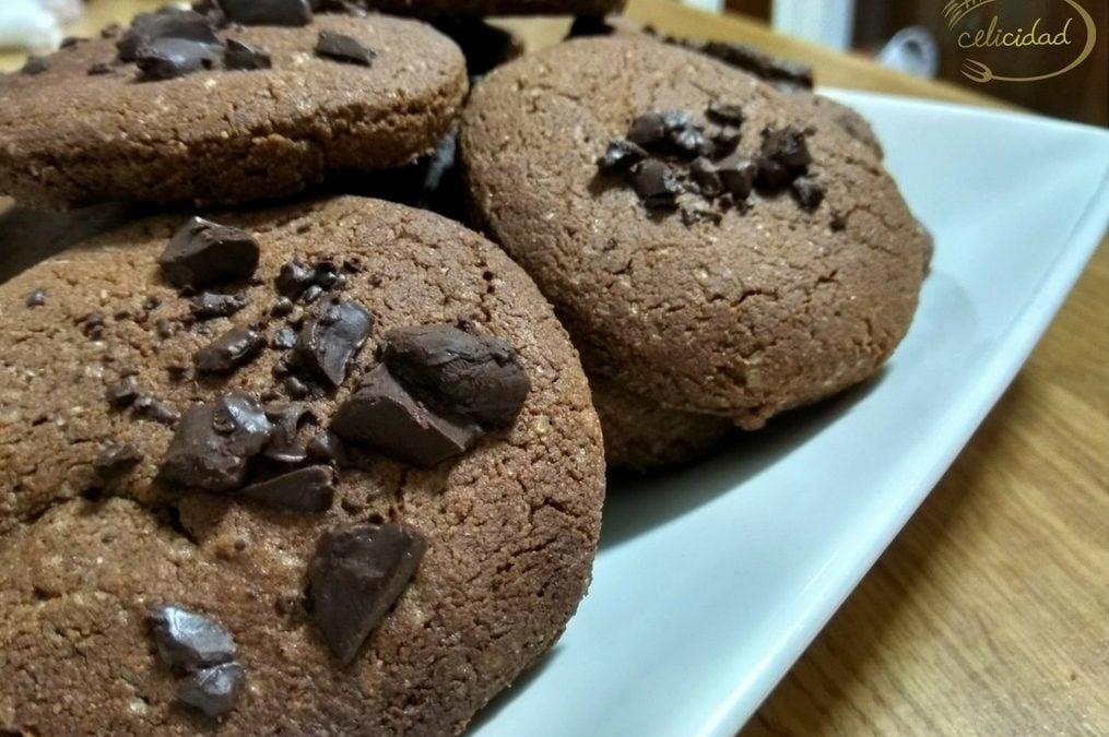 Galletas de chocolate con chocolate y sin gluten