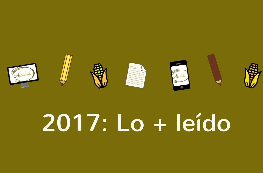 Lo más leído (sin gluten) en 2017