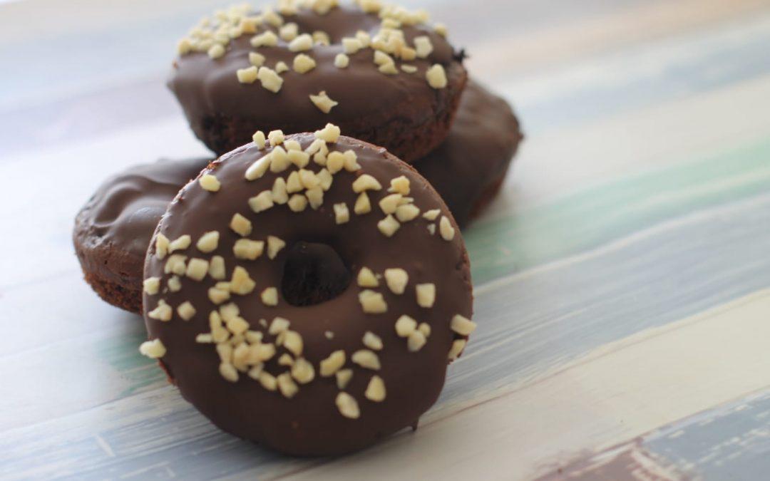 Donuts sin gluten, al horno y con cacao