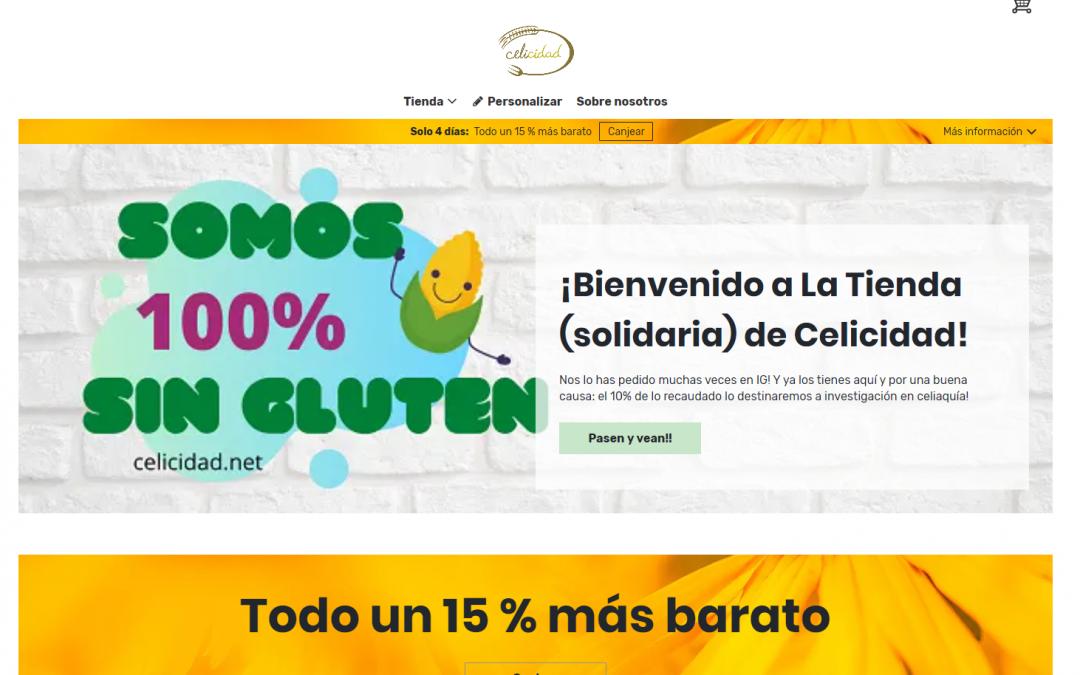 Tienda solidaria de Celicidad: apoyamos la investigación en enfermedad celiaca