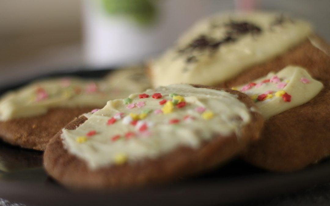 Galletas de chocolate blanco sin gluten